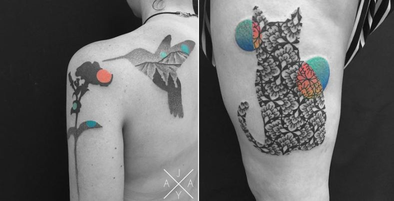 lovely-black-tattoos-with-geometrical-patterns-0