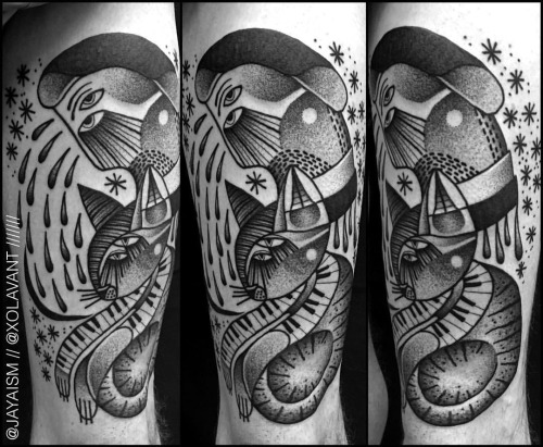 lovely-black-tattoos-with-geometrical-patterns-18