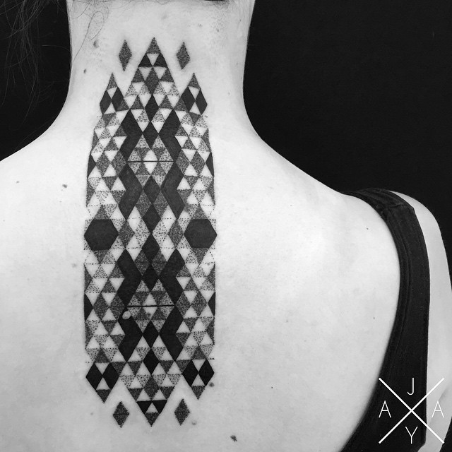 lovely-black-tattoos-with-geometrical-patterns-2