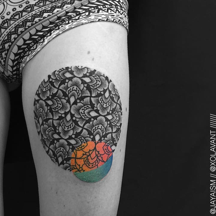 lovely-black-tattoos-with-geometrical-patterns-7
