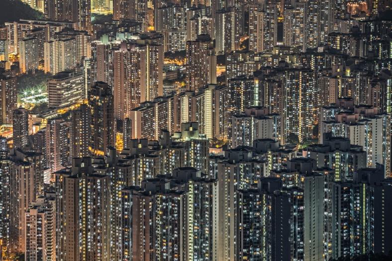 Digital panel of Hong Kong