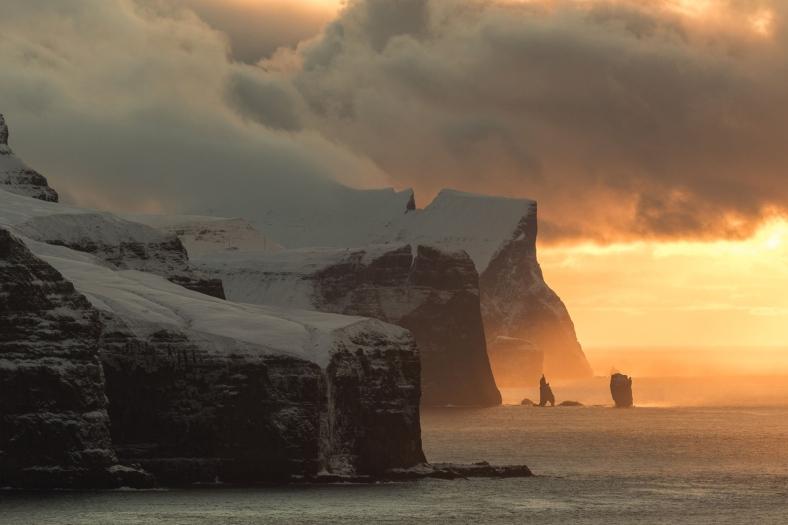 Faroe Islands on fire